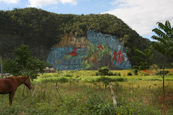 Murals travel inspiration for Mural de la prehistoria cuba