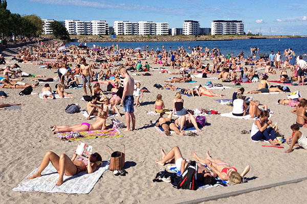 Topless beach europe