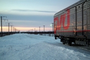The train to Arctic Siberia