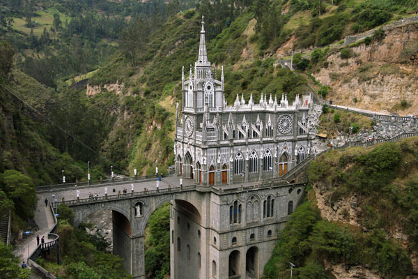 Buildings and architecture in south america travel inspiration las lajas church sciox Choice Image